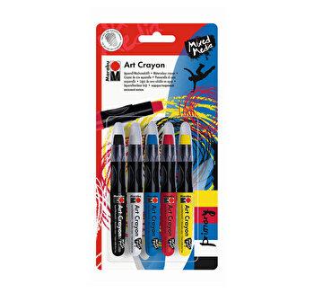 Set Creioane Acuarela Cerate, Art Crayon, Marabu, Culori Primare