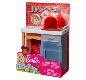 Set Barbie, mobilier exterior cuptor pizza