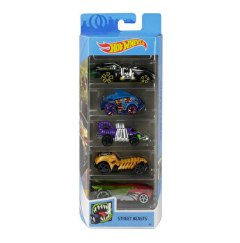 Set 5 masini, Hot Wheels Street Beats