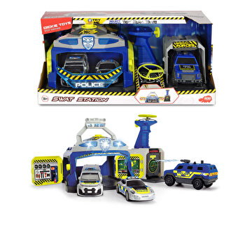 Set de joaca Dickie Toys - Statie SWAT cu 3 masini si drona