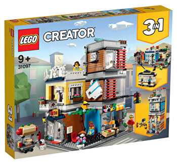 LEGO Creator 3 in 1, Magazin de animale si cafenea 31097