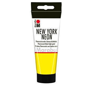 Vopsea acrilica neon New York, 100 ml, Galben Neon