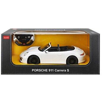Masina cu telecomanda Porsche Carrera S, alb, scara 1 la 12