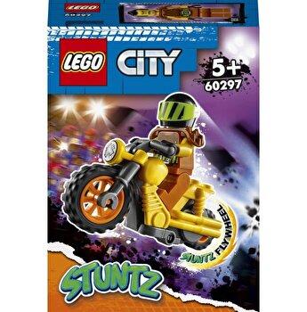 LEGO City - Motocicleta de cascadorie pentru impact 60297