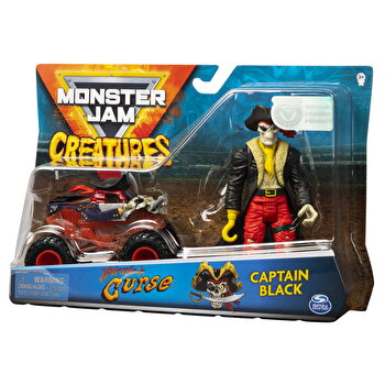 Set Monster Jam - Blestemul piratilor si capitanul Negru
