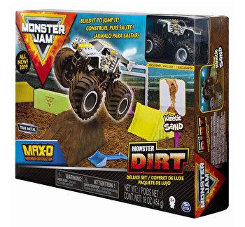 Monster Jam, set camioneta cu nisip si accesorii maxfun