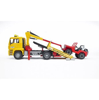 Jucarie Bruder, Construction - Camion de tractare Man Tga si vehicul de teren
