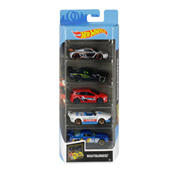Set 5 masini, Hot Wheels Nightburnerz