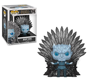 Figurina Funko Pop Games of Thrones Night King pe Tronul de fier