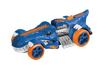 Masinuta cu lumini si sunete Hot Wheels, T-Rextroyer albastru