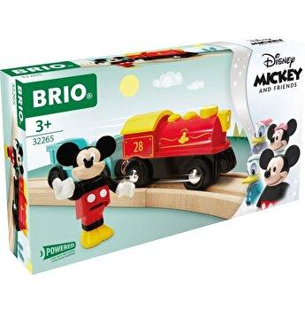 Jucarie Brio - Tren Mickey Mouse, cu baterii