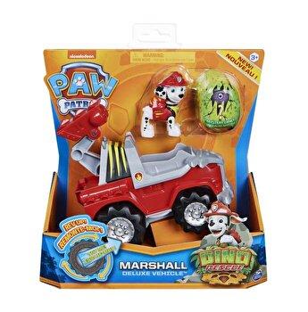 Patrula Catelusilor, Set vehicul cu catelus Marshall si figurina Dino surpriza