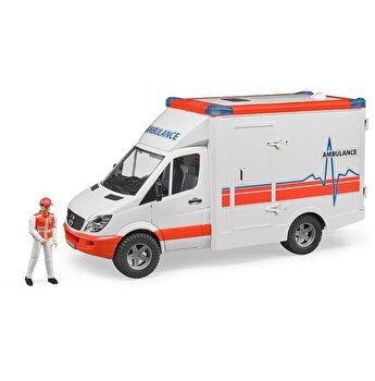 Jucarie Bruder, Emergency - Sprinter ambulanta Mercedes Benz cu sofer si sirena