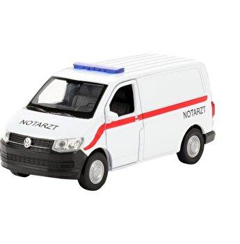 Masinuta metalica Welly - Volkswagen Transporter T6 Van Ambulanta