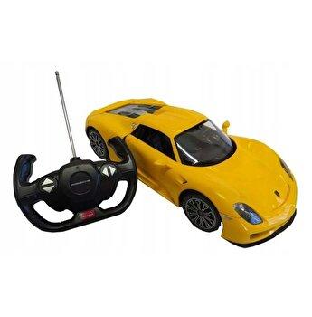 Masina cu telecomanda Porsche 918 Spyder galben scara 1:14