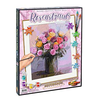Kit pictura pe numere Schipper - Buchet cu trandafiri
