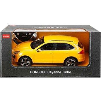 Masina cu telecomanda Porsche Cayenne Turbo, galben, scara 1 la 14