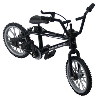 Mini Bicicleta Finger Bike, jucarie antistres pentru deget, 11 x 8 x 2 cm, negru