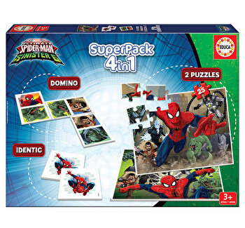 Superpack Spider-Man - 2 x puzzle, memo game, domino
