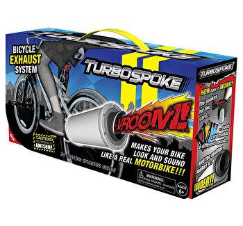 Accesoriu biciclete Turbospoke, super efect de motocicleta