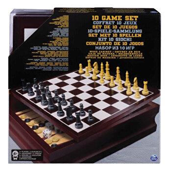 Cardinal Games set 10 jocuri in cutie de lemn