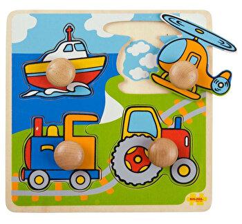 Primul meu puzzle - Mijloace de transport, 4 piese