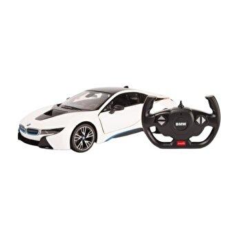 Masina cu telecomanda BMW I8 alb scara 1:14