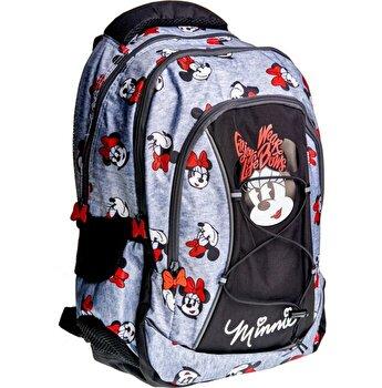 Rucsac gimnaziu, 3 compartimente, Minnie Mouse