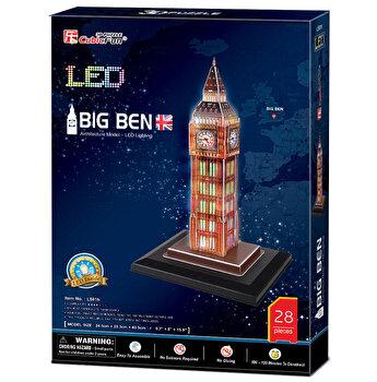Puzzle 3D Led - Big Ben, 28 piese