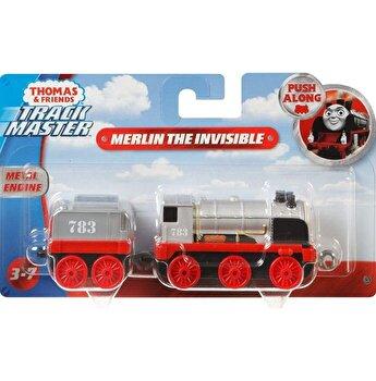 Thomas - Locomotiva cu vagon push along Merlin