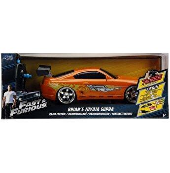 Masinuta metalica cu telecomanda Fast and Furious - RC Brian's Toyota Supra, scara 1:16