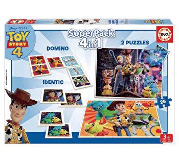 Superpack Toy Story - Joc Domino, Joc Identic, 2 x Puzzle 25 piese