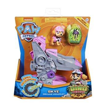 Patrula Catelusilor, Set vehicul cu catelusa Skye si figurina Dino surpriza