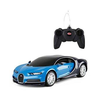 Masina cu telecomanda Bugatti Chiron, albastru, scara 1 la 24