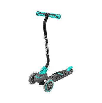 Trotineta pentru copii cu 3 roti Saica Ryder Neo 3400, cu roti din silicon, reglabila pe inaltime, pliabila, albastru cu negru