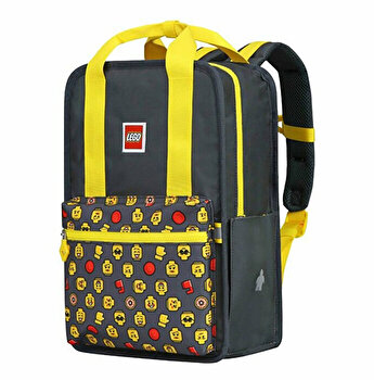 Rucsac Casual LEGO Tribini Fun Large - design Heads and Cup, galben