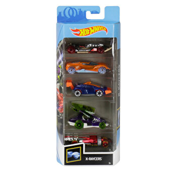 Set 5 masini, Hot Wheels X-Raycers