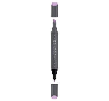 Marker pentru schite cu doua capete Graphix Marabu, 1-7 mm, Pastel Liliac