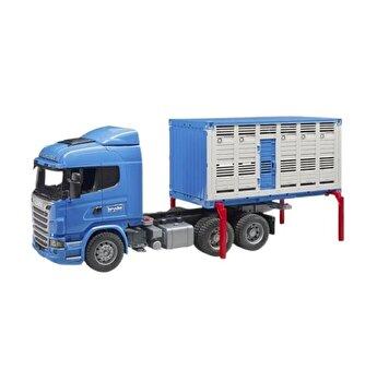 Jucarie Bruder, Agriculture - Camion transport bovine Scania R-Series si o vita