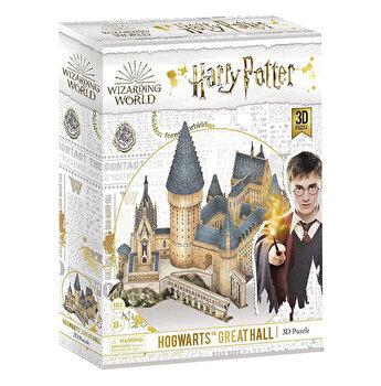 Puzzle 3D - Harry Potter - Sala Principala, 187 piese