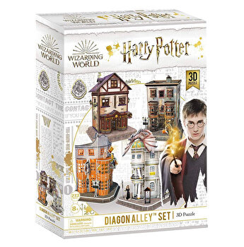 Puzzle 3D - Harry Potter 4 in 1 - Aleea Diagon, 273 piese