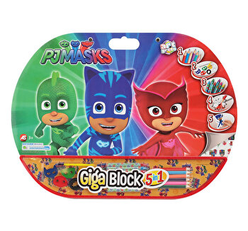 Set pentru desen Giga Block 5 in 1 - Eroi in pijama