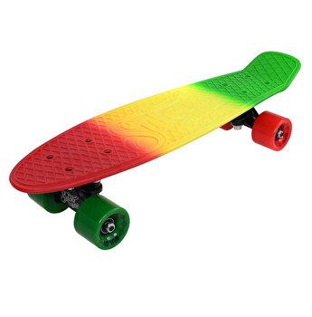 Skate Penny SLV 3C 22 inch, verde-galben-rosu