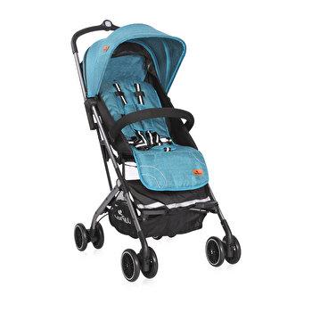 Carucior pentru nou-nascut, Helena, geanta de transport inclusa, cadru aluminiu, Sea Blue