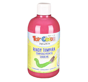 Tempera superlavabila Toy Color, 500 ml, rosu carmin