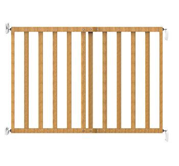 Poarta de siguranta extensibila Noma, 64 – 100 cm, lemn natur, N93729