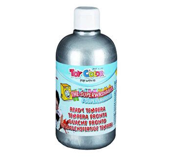 Tempera superlavabila Toy Color, 500 ml, argintiu