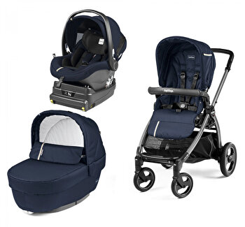 Carucior 3 In 1, Peg Perego, Book Plus S, Titania, Class, Class Grey