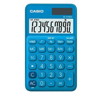 Calculator de birou Casio SL-310UC, 10 digits, albastru