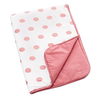 Paturica Dots Doomoo, 75x100 cm, roz